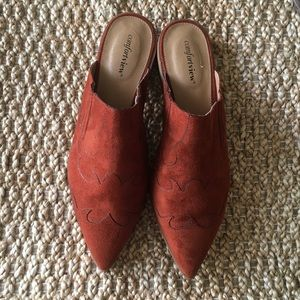 COMFORTVIEW Suede Mules Size 10.5